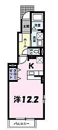 サンハイツ北六甲四番館[1階]の間取り