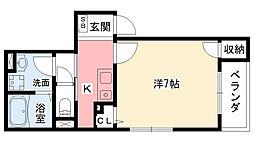 JR東海道・山陽本線 甲子園口駅 徒歩4分の賃貸マンション 1階1Kの間取り