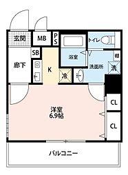 ダイドーメゾン・大阪堂島[704号室]の間取り