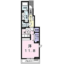 ラフィーネメゾンC[1階]の間取り