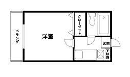 コーポ福田[108号室]の間取り