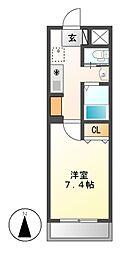 A-city港本宮[3階]の間取り