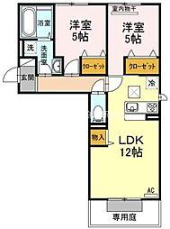 (仮)D-room一宮[1階]の間取り