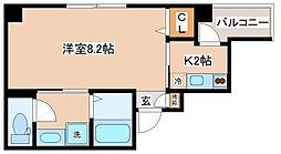 JR東海道・山陽本線 神戸駅 徒歩12分の賃貸マンション 5階1Kの間取り