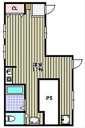 シャルム山村[1階]の間取り