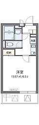 JR阪和線 三国ヶ丘駅 徒歩9分の賃貸マンション 2階1Kの間取り