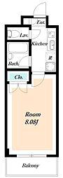 クレオ舞浜III[2階]の間取り