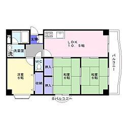 アネックス津和弐番館[5階]の間取り