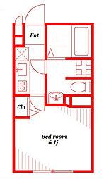 アムール踊場[1階]の間取り