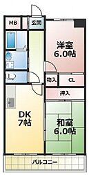 アモール永田[4階]の間取り
