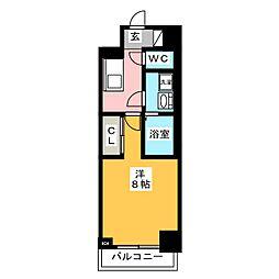 レオーネ台東三ノ輪 2階1Kの間取り