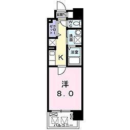 京阪本線 滝井駅 徒歩2分の賃貸マンション 2階1Kの間取り