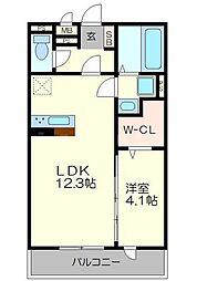 仮)南区久世中久世町5丁目 共同住宅 1階1LDKの間取り