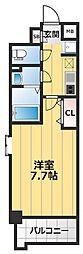Luxe海老江2 8階1Kの間取り