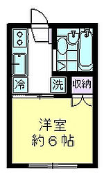 モンシャトー尾崎[202号室]の間取り