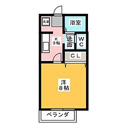 フラワーハイツIII[2階]の間取り