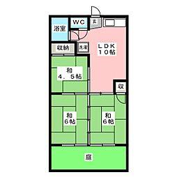 メゾンカドシゲ[1階]の間取り