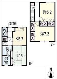 [タウンハウス] 三重県津市雲出長常町 の賃貸【/】の間取り