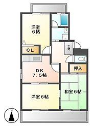 トレインドハウス山清[1階]の間取り