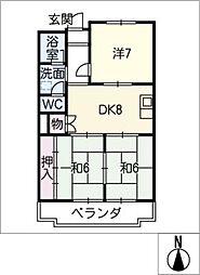 メイゾンサンポア B棟[4階]の間取り