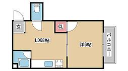 兵庫県神戸市中央区南本町通4丁目の賃貸マンションの間取り