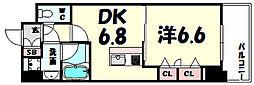 プレジール三ノ宮2[4階]の間取り