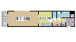 プレサンス新神戸[9階]の間取り