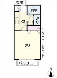 ヒロ稲口[2階]の間取り