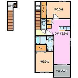 Hills-T[2階]の間取り