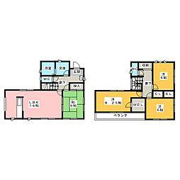 [一戸建] 栃木県さくら市上阿久津 の賃貸【/】の間取り