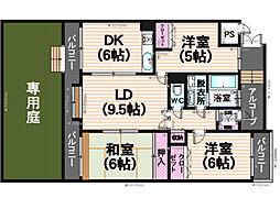 ローヤルマンション筑紫丘[307号室]の間取り