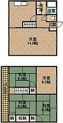 [テラスハウス] 静岡県浜松市中区高林4丁目 の賃貸【/】の間取り