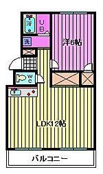 横田ハイツ[202号室]の間取り