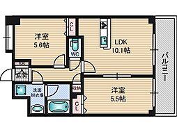 東明マンション壱番館[4階]の間取り