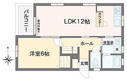 東京都小金井市前原町3丁目の賃貸マンションの間取り