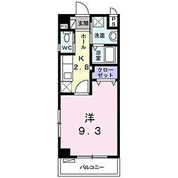 TOYO サンハウス 2階1Kの間取り