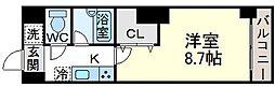 クレセントコート難波[4階]の間取り