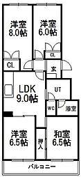 エスポアール南円山C−3号棟[402号室]の間取り