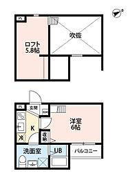 大阪府堺市堺区八千代通の賃貸アパートの間取り