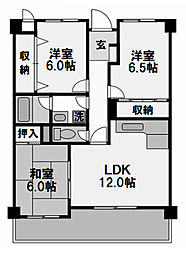 K&T御幣島マンション[306号室]の間取り