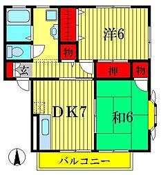 セントパークハイツA・B棟[2階]の間取り