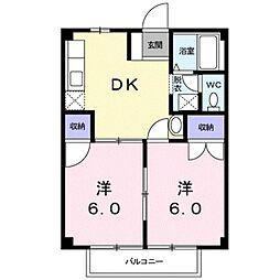 レインボーハウスB[1階]の間取り