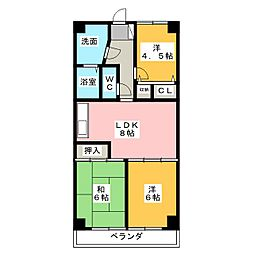キヨミズキャンパス[5階]の間取り