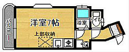 福岡県北九州市八幡西区東筑1丁目の賃貸マンションの間取り