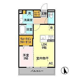 (仮)D-room八幡町[203号室]の間取り