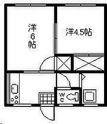 月見ヶ丘アパート[103号室]の間取り