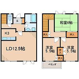 [テラスハウス] 神奈川県鎌倉市大町4丁目 の賃貸【/】の間取り