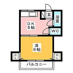 樋井川マンション[2階]の間取り