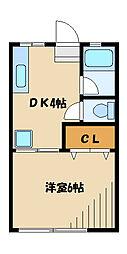 富士見コーポ[2階]の間取り