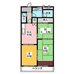 福寿豊成[4階]の間取り